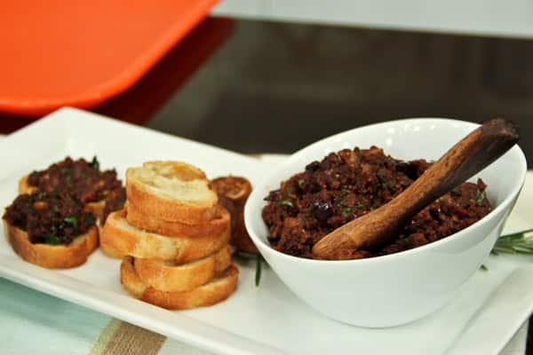 Kalamata olive and fig tapenade.
