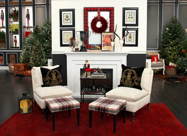 Tommy smythe s plaid holiday decor steven and chris for Smythe designer