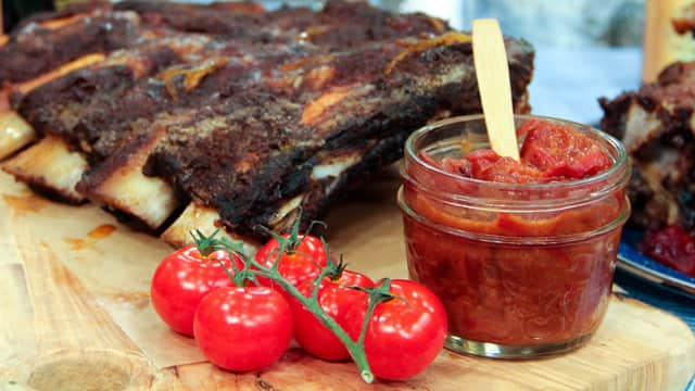 Plum and Red Pepper Chutney by Chef Jonathan Collins