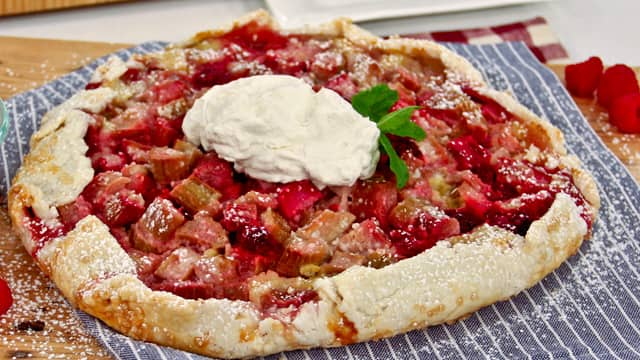 Messy Baker's raspnerru rhubarb frangipane and filling make the perfect pie!