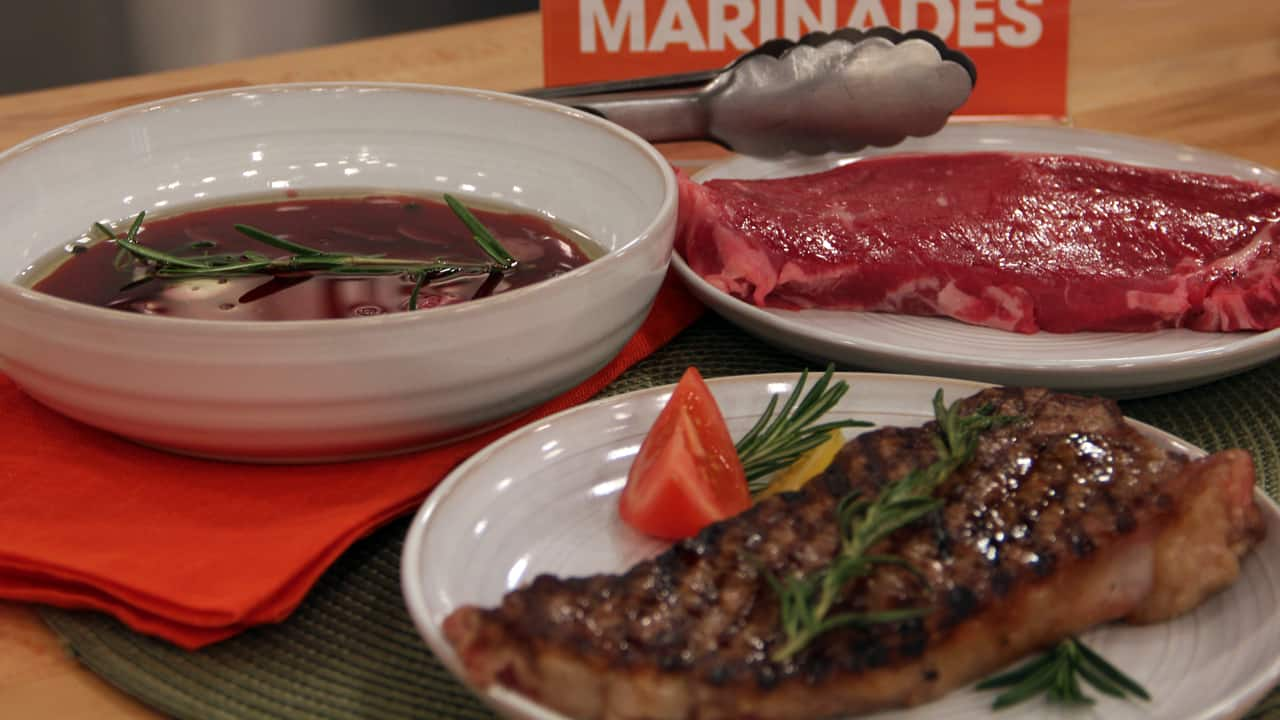 red meat and marinade
