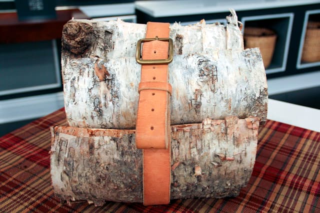 5 Ways to Repurpose Leather Belts: Fire Log Holder