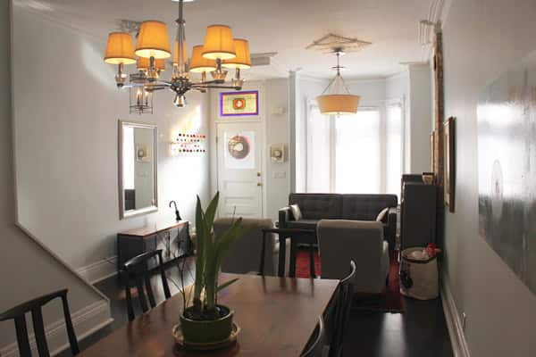 Kyle Lin's renovated living/dining room.