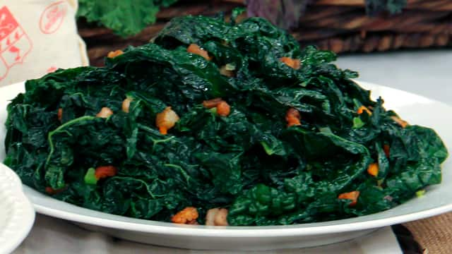 Sauteed Tuscsan Black Kale with Speck by Chef Mark McEwan