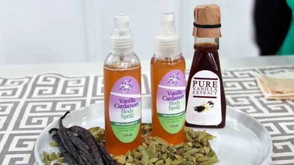 DIY Vanilla Cardamom Body Mist