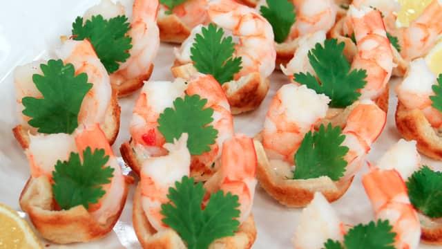 Shrimp Cocktail Canapes