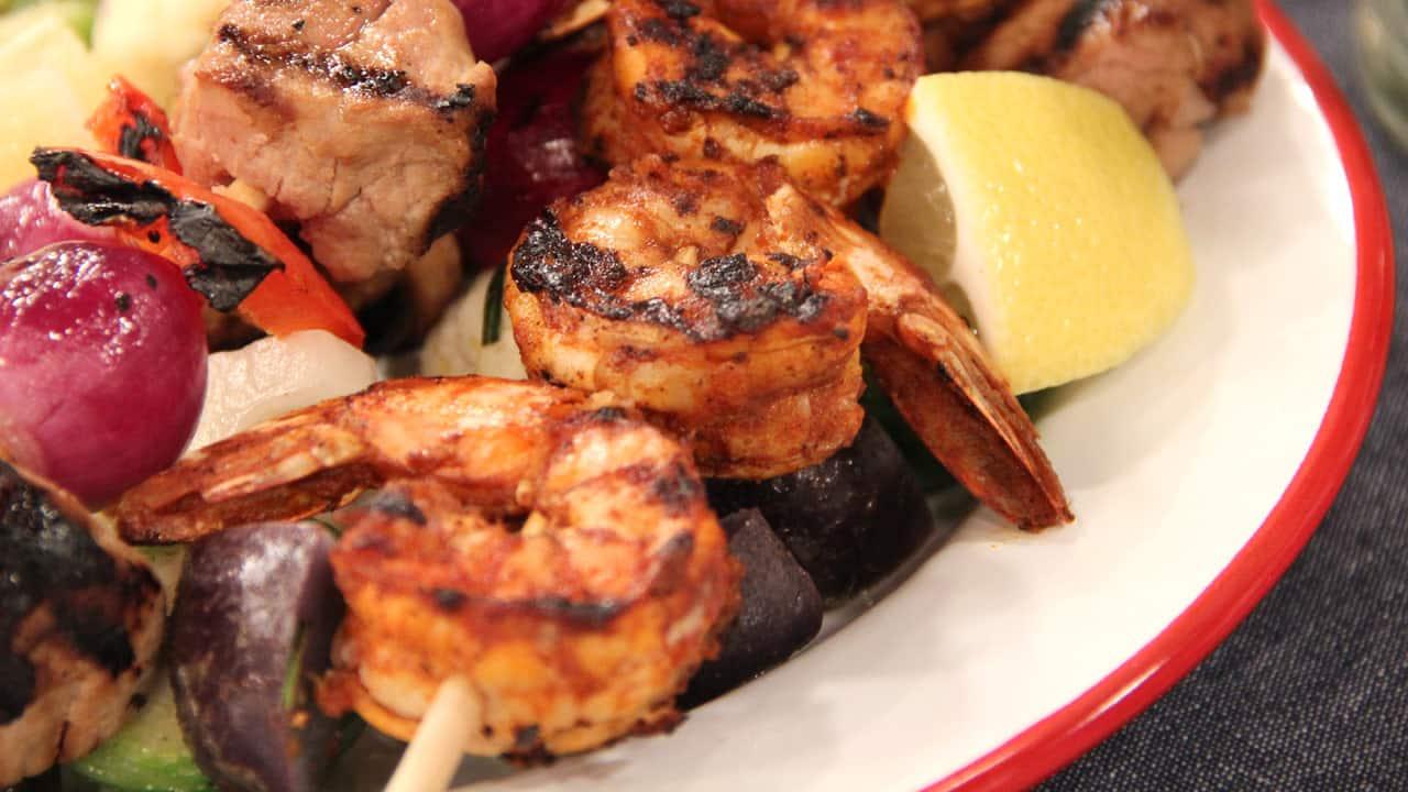 Smoky Paprika Shrimp Kebabs - Steven and Chris