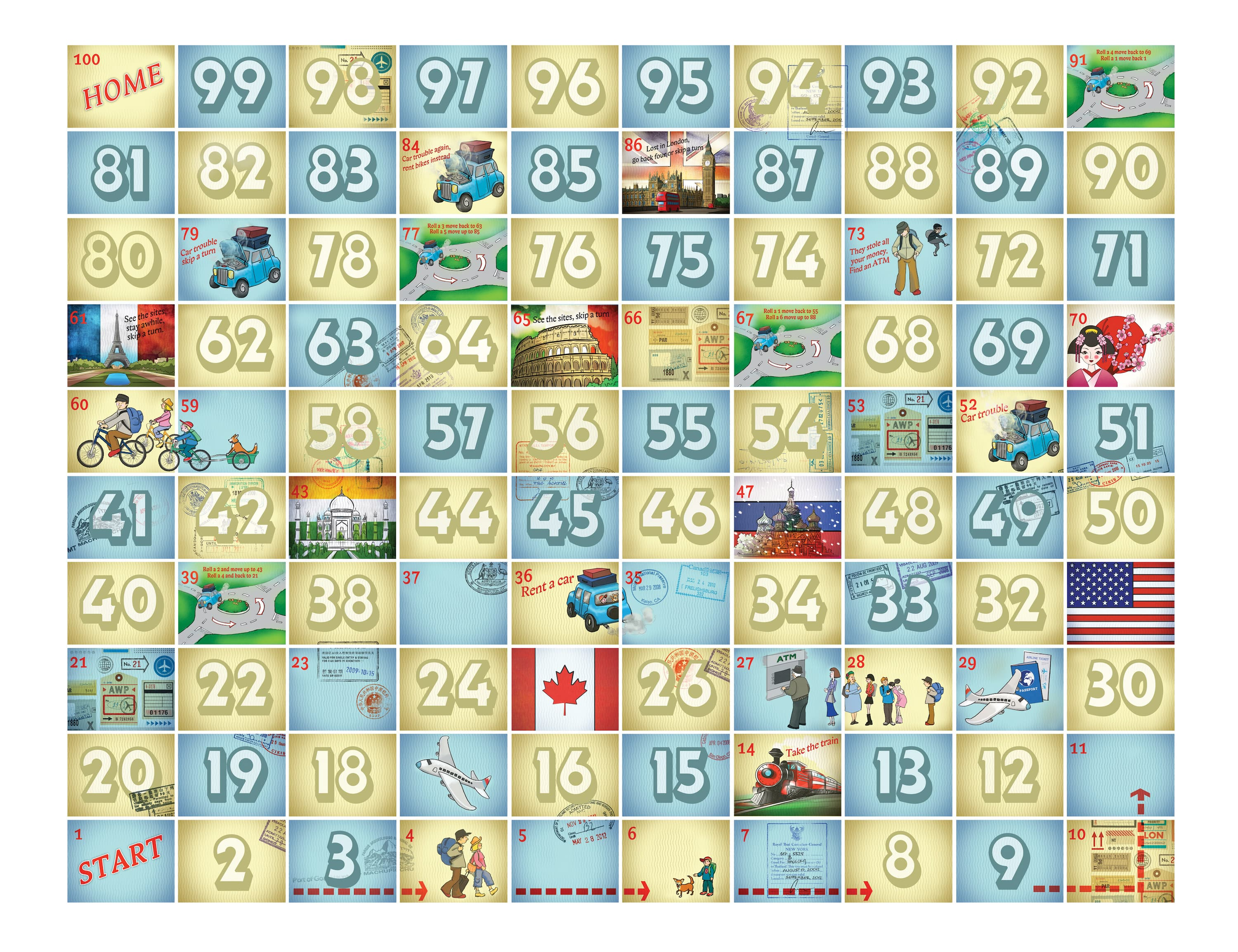 Diy snakes and ladders steven and chris for Board game instructions template