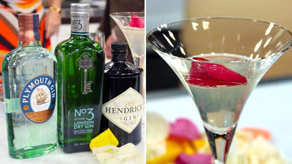 High-End Gin and Rose Petal Cucumber Martini
