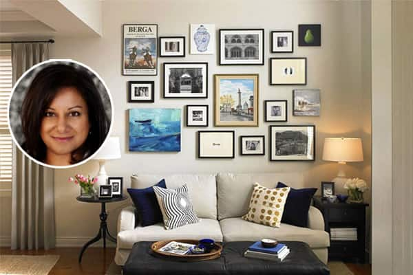 Blogger Vanessa Francis and her living room gallery wall.