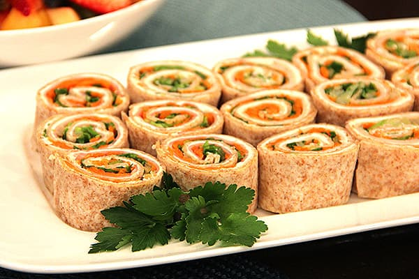 Two-Bite Tortilla Pinwheels.