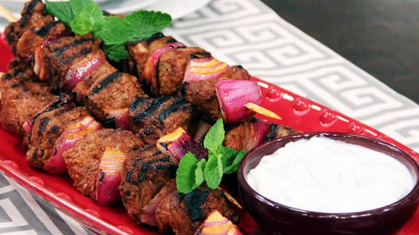 Turkish Lamb Kebabs and Cacik