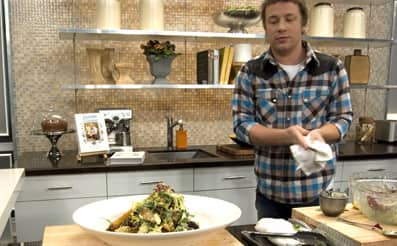 Salads with jamie oliver steven and chris for Jamie oliver style kitchen design