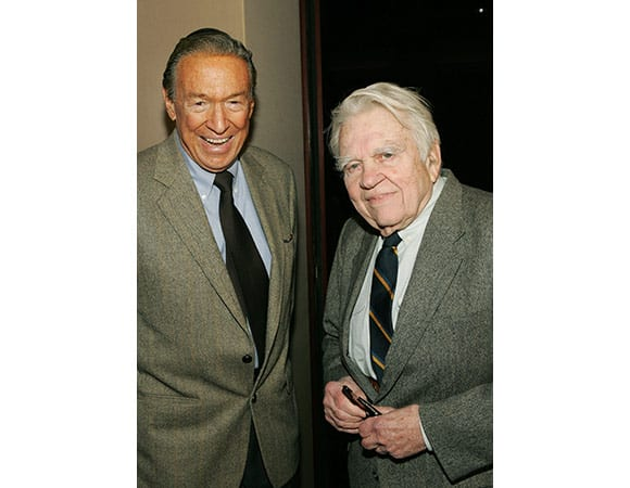 Mike Wallace and Andy Rooney