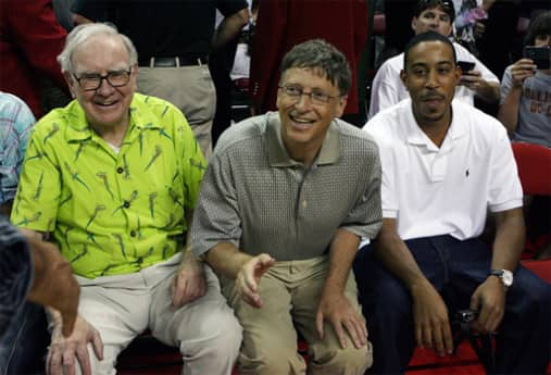 Warren Buffett, Bill Gates and Ludacris