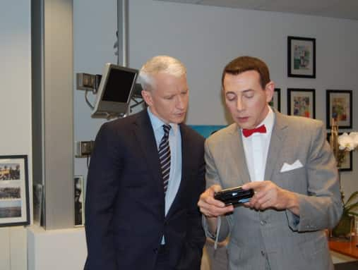Anderson Cooper and Pee Wee Herman