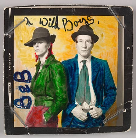 David Bowie with William Burroughs, February 1974.