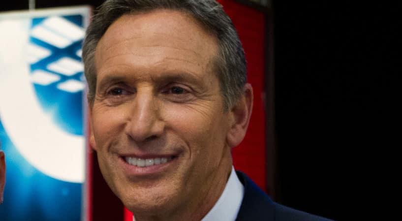 "Starbucks CEO Howard Schultz On Caring Only About Profit: ""I Don't Think It's A Sustainable Goal"""
