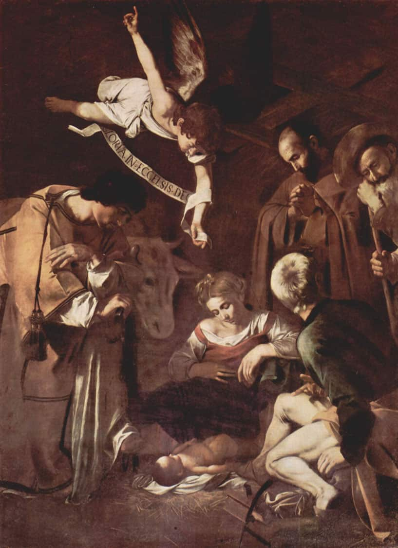 Nativity with St. Francis and St. Lawrence by Caravaggio