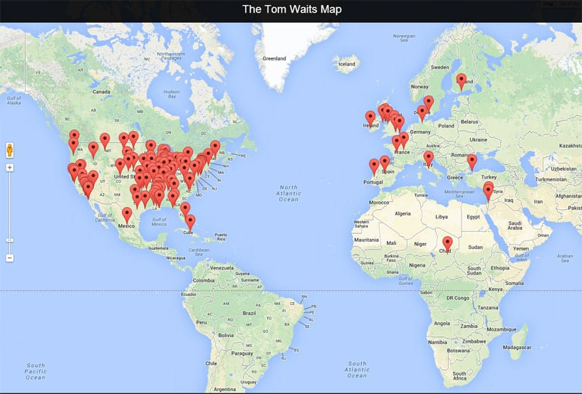Map Of Canada Song.George Stroumboulopoulos Tonight The Tom Waits Map You Never Asked