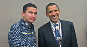 BEST STORY EVER: Wab Kinew Sneaks In To A Meeting With Barack Obama