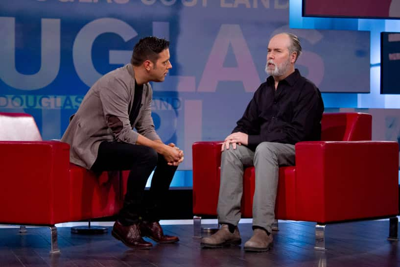 Coupland in the red chair