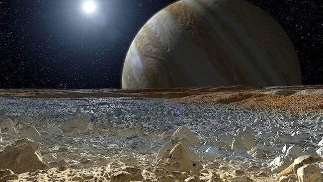 Europa's surface (artist's concept)