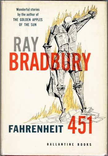 Primera portada de Farenheit 451, novela publicada en 1953