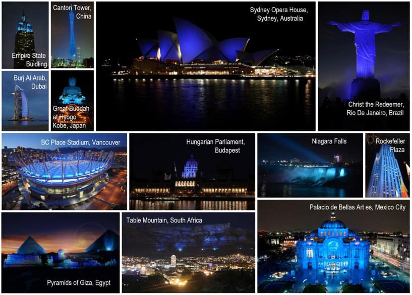 Each Year For World Autism Awareness Day, The Group Autism Speaks Leads A  Campaign Called Light It Up Blue, Which Encourages Landmarks Around The  World To ...