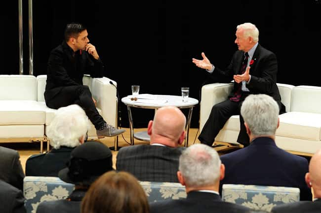George in conversation with Governor General David Johnston