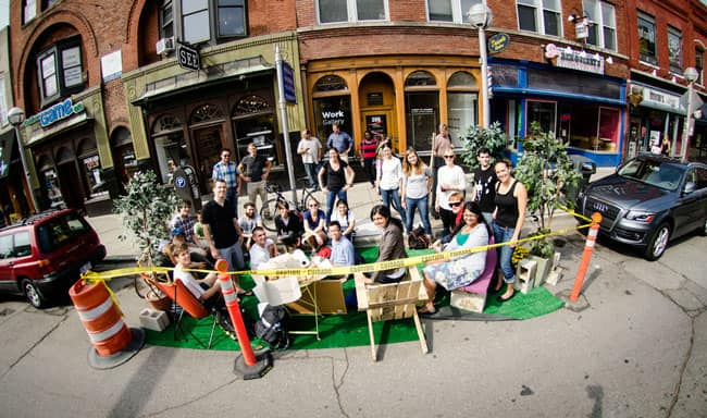 A PARK(ing) Day picnic in Michigan