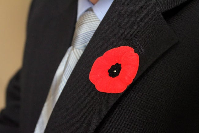 There's a right way to wear a poppy