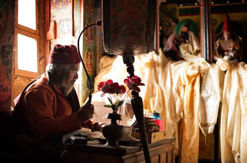 Pangboche Monastery Puja