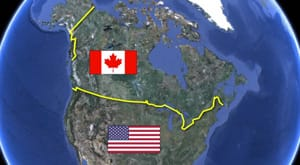 George Stroumboulopoulos Tonight Why Is The CanadaUS Border - Canada us border map
