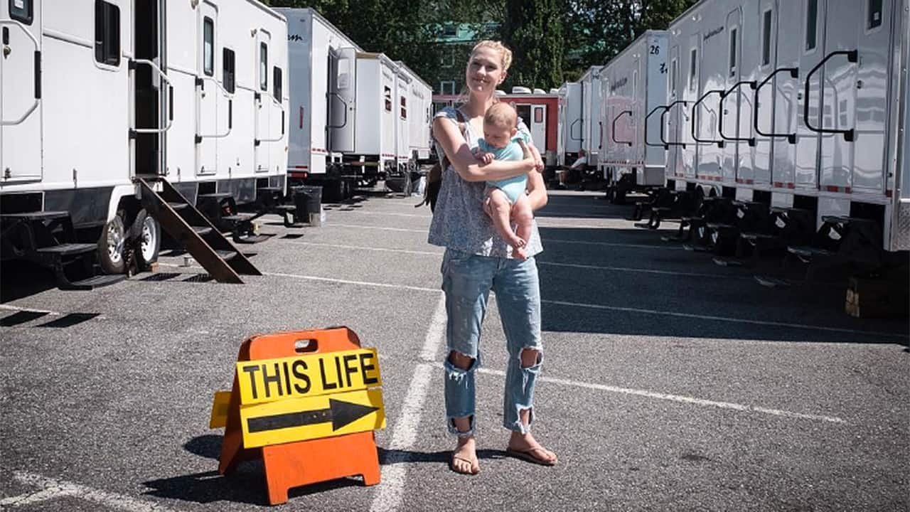 Raising a Baby on The Set of This Life