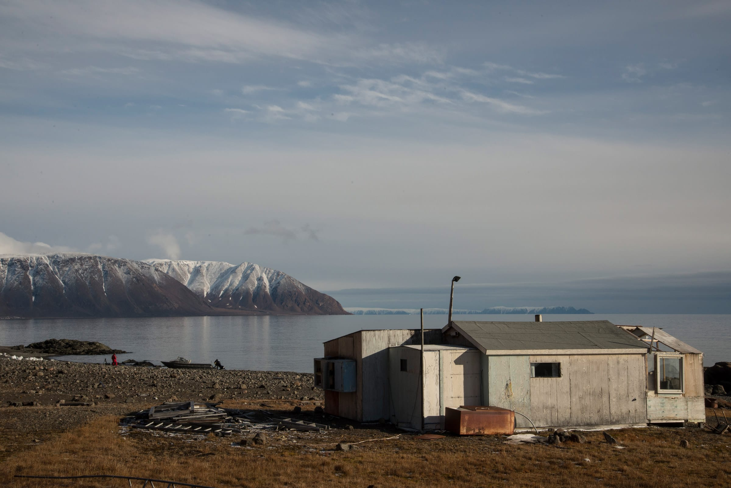 Site of the original settlement in Grise Fiord, the northernmost civilian community in Canada