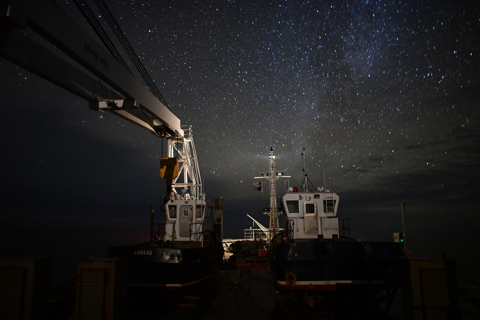 Night sky over the Northwest Passage