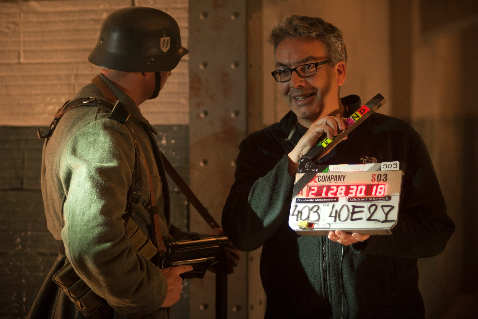 Behind the scenes on the set of X Company Season 3 with Co-Creator and Executive Producer Mark Ellis with the FINAL SLATE.