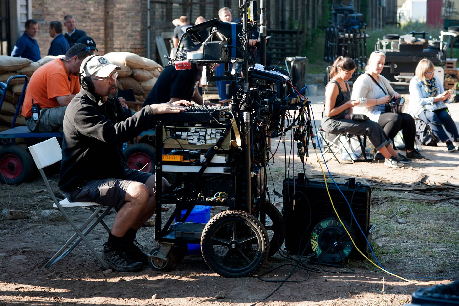 Behind the scenes on the set of X Company Season 3 with Sound Mixer Zenon Waschuk.