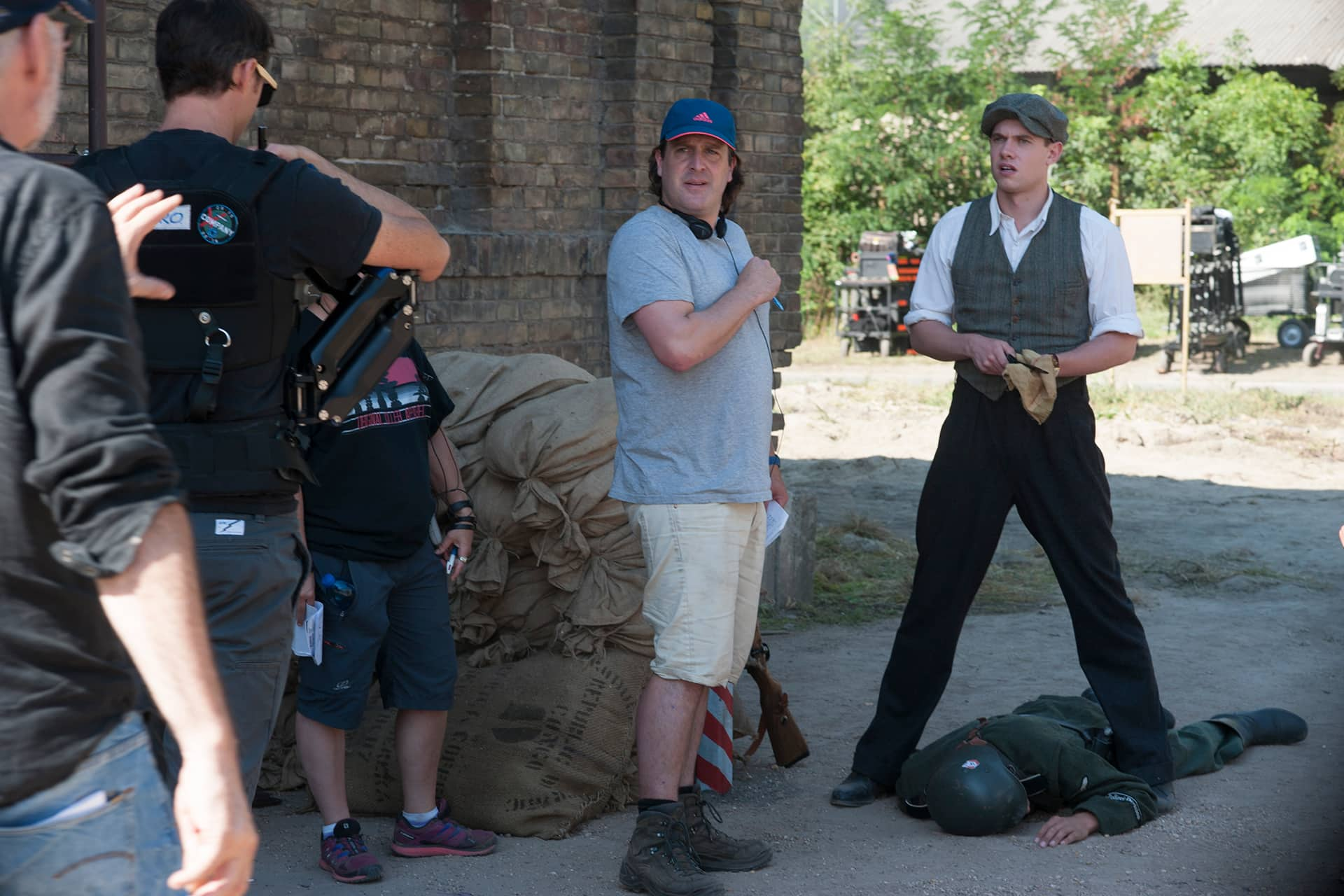 Behind the Scenes on the set of X Company Season 3 with Director Julian Gilbey and Tom Brittney (David).