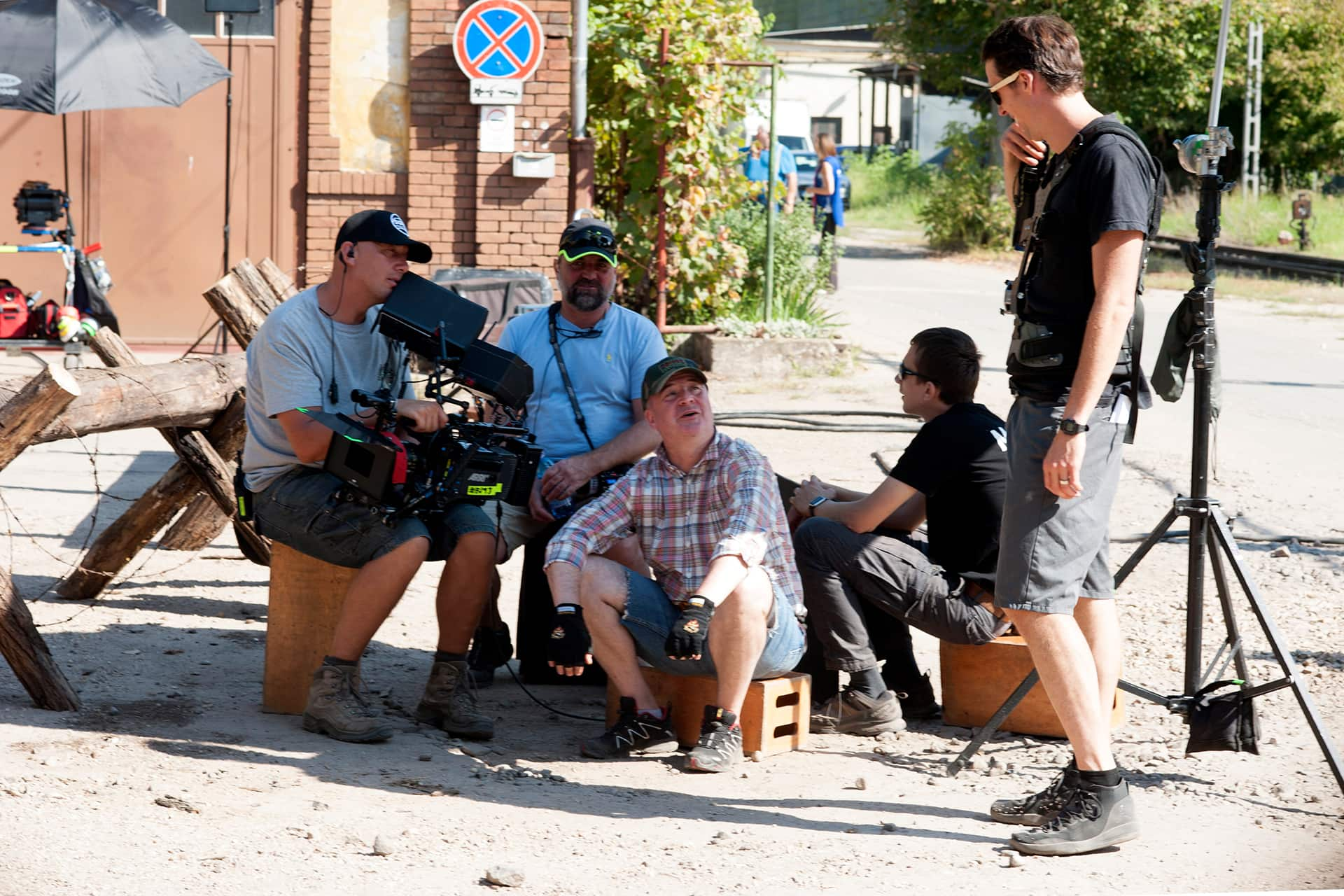 Behind the scenes on the set of X Company Season 3 with Camera Crew.
