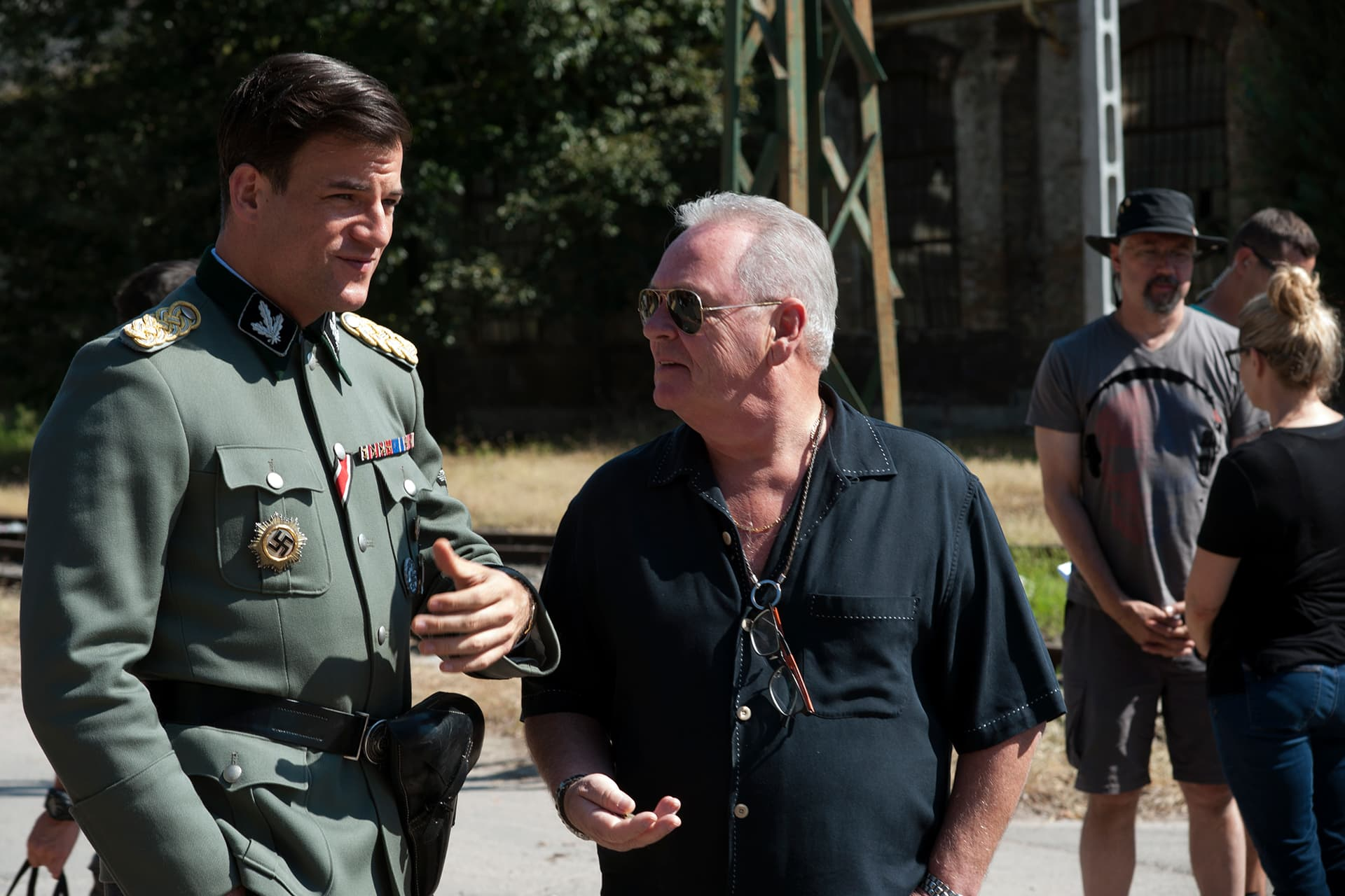 Behind the scenes on the set of X Company Season 3 with Torben Liebrecht (Faber) and Producer John Calvert.