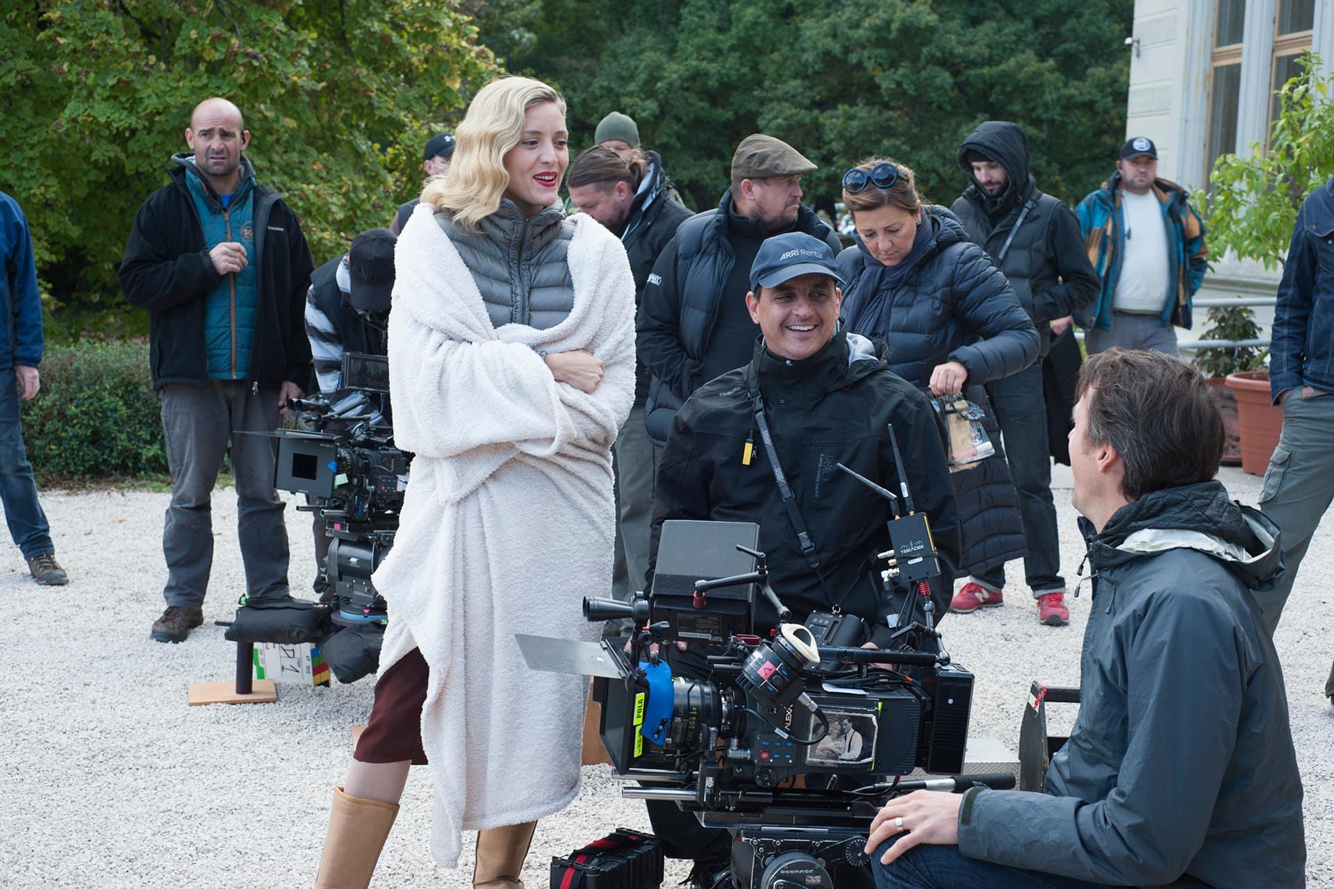 Behind the scenes on the set of X Company Season 3 with Evelyne Brochu (Aurora), 1st AC István Gottmann and