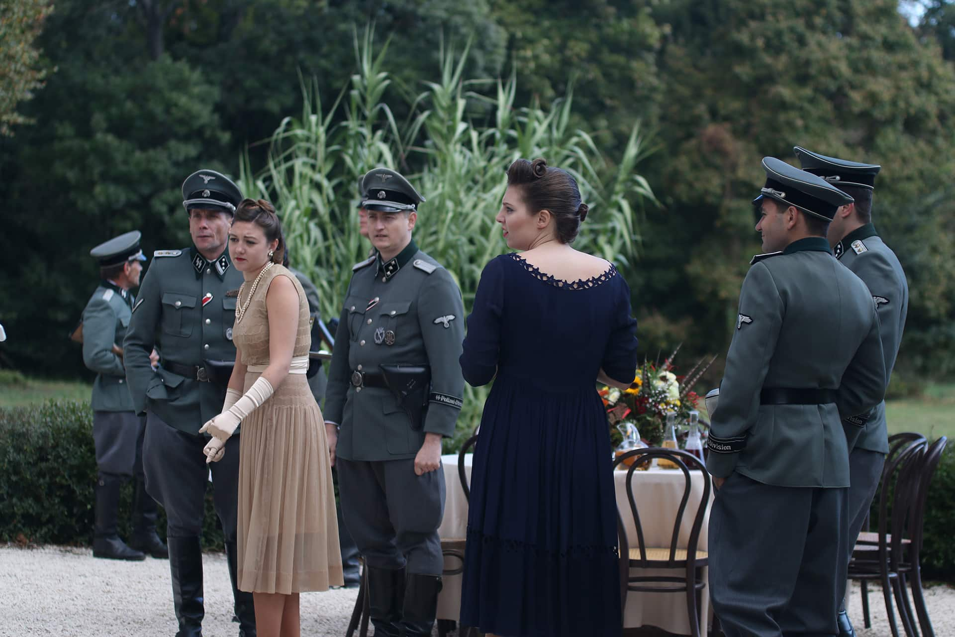 Behind the scenes on the set of X Company Season 3.