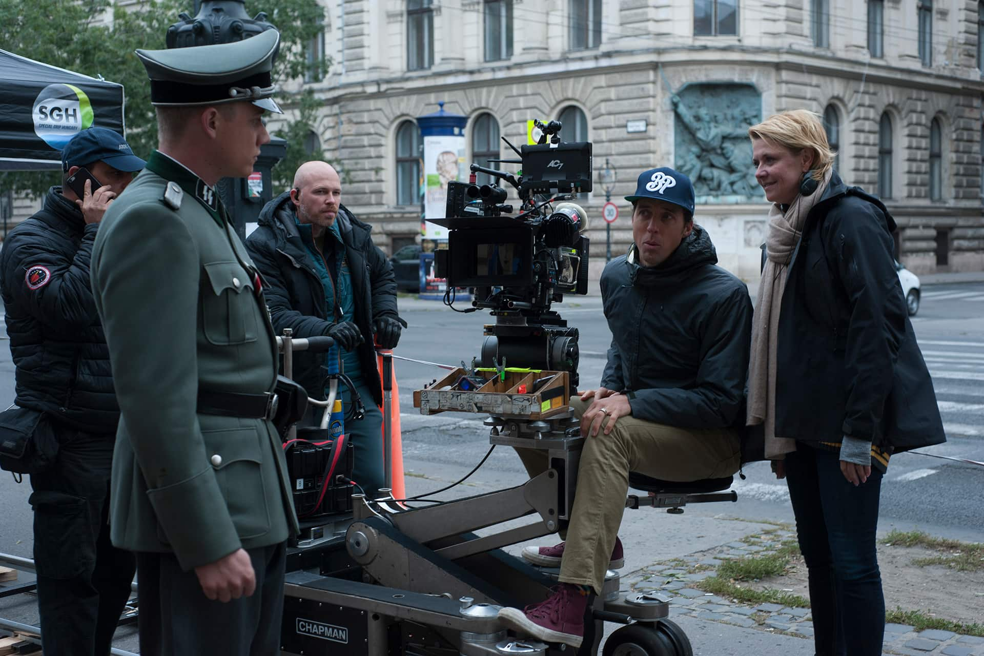Behind the scenes on the set of X Company Season 3 with Basil Eidenbenz (Edsel), Director Amanda Tapping,