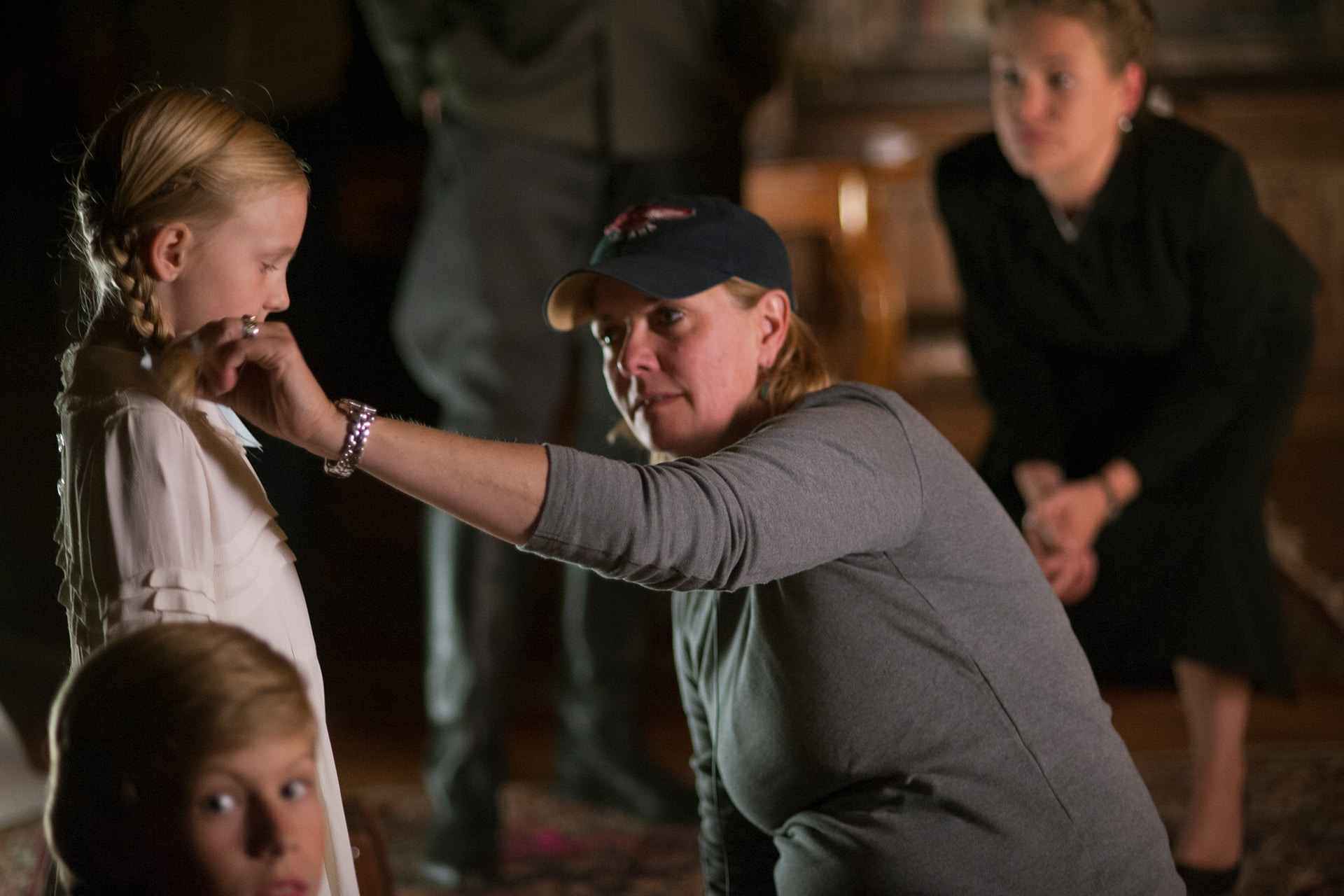 Behind the scenes on the set of X Company Season 3 with Director Amanda Tapping and Julia Folta (Ania).