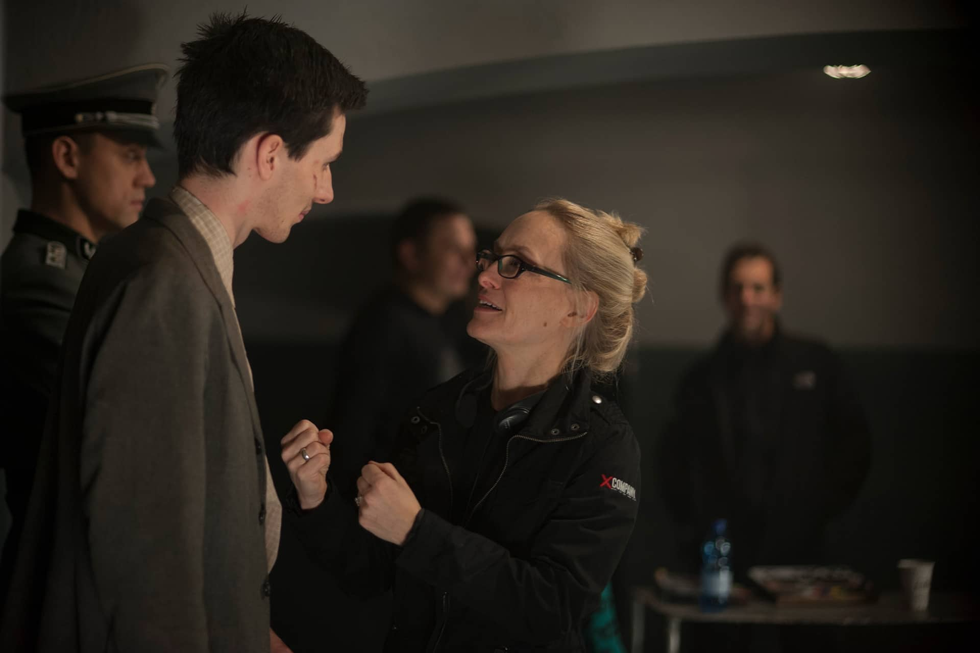 Behind the scenes on the set of X Company Season 3 with Director Stephanie Morgenstern and James MacCallum (William).