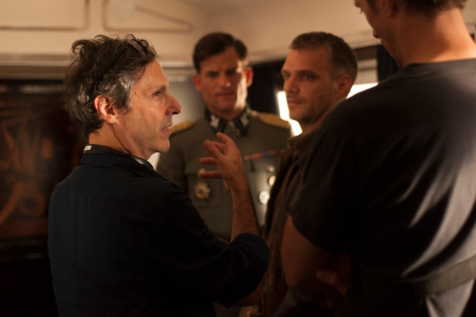 Director Paolo Barzman on the set of X Company Season 3.