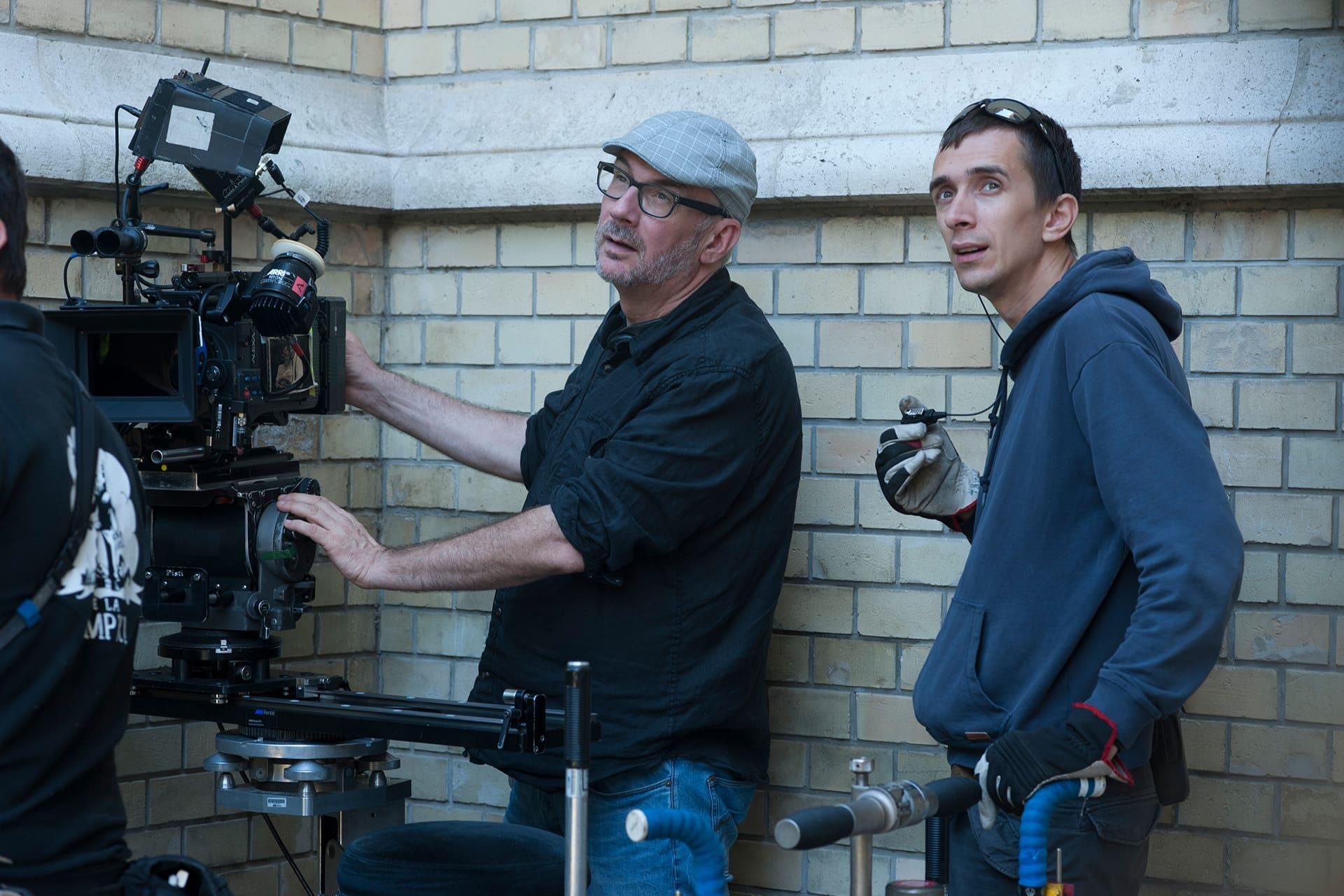 Director of Photography Michael Marshall  with Best Boy Márk Czirják on the set of X Company Season 3.