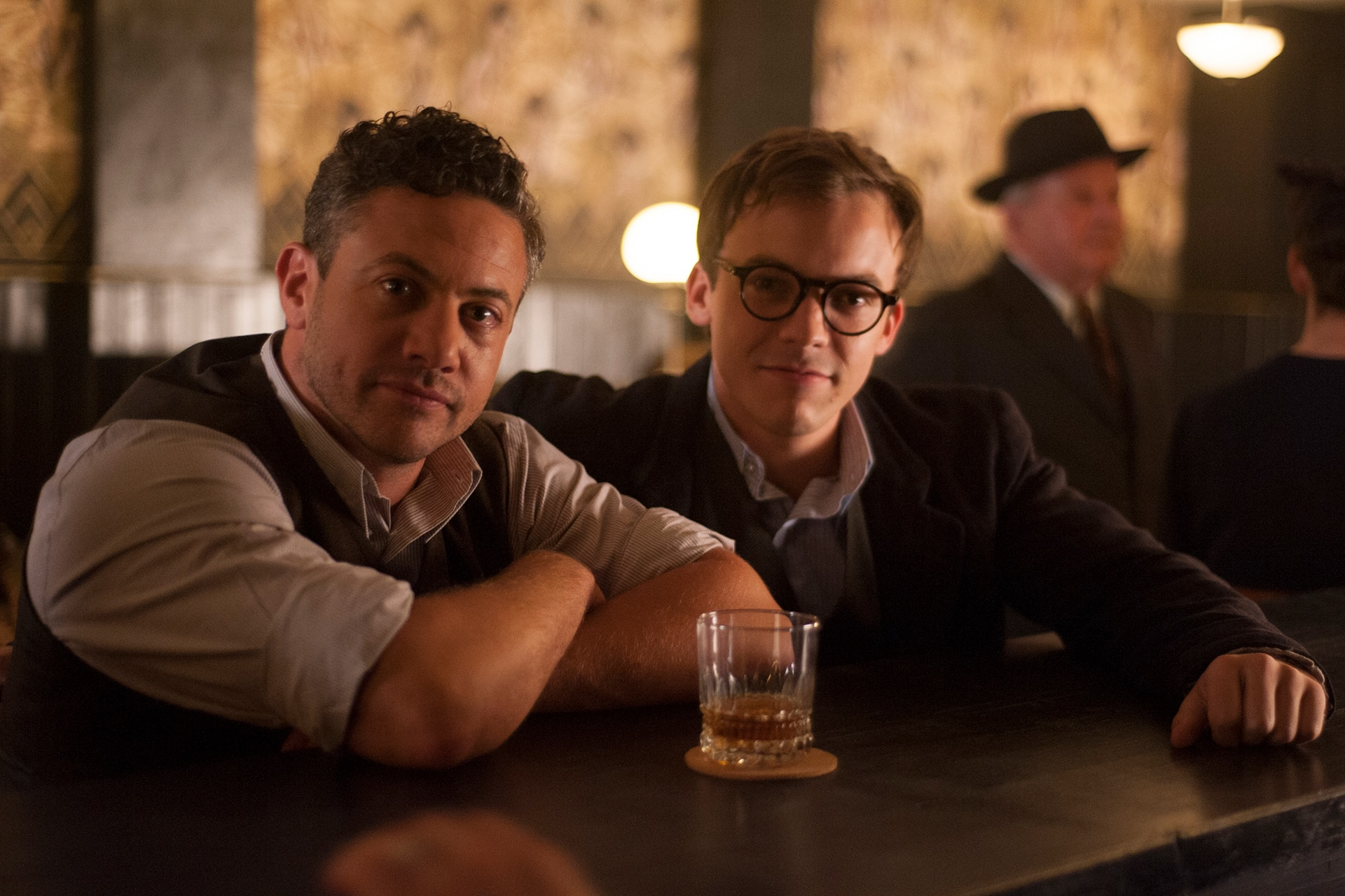 Warren Brown (Neil) and Connor Price (Harry) on the set of X Company Season 3.
